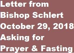 Letter from Bishop Schlert 10-29-18