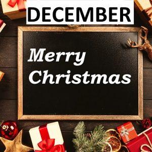 December Label 12345